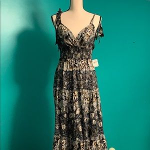 NWT Free People Let's Smock About It Maxi Dress L